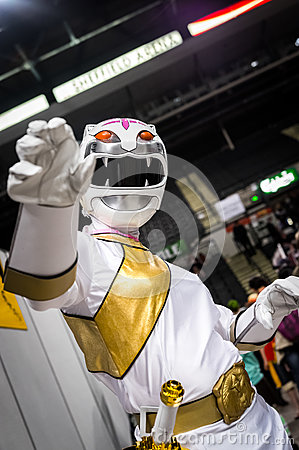 Free Cosplayer Dressed As A Character From `Wild Force Power Rangers` Stock Photo - 81486490