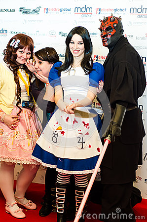 Cosplayers at East European Comic Con Editorial Photo