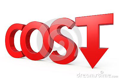 Cost Down Concept Royalty Free Stock Images Image 37965019