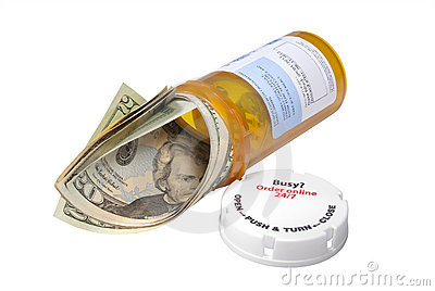 Cost of drugs metaphor, isolated