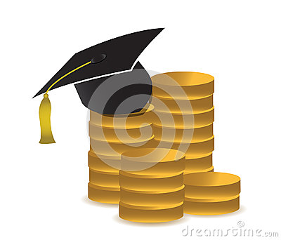 Cost of education concept illustration