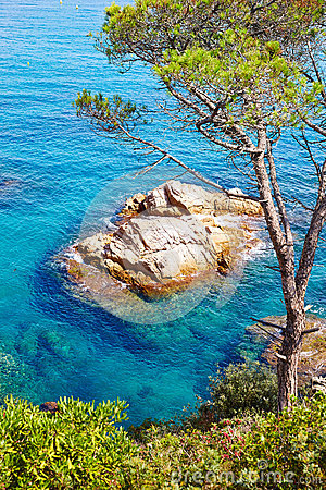 Free Costa Brava Beach Lloret De Mar Catalonia Spain Royalty Free Stock Image - 62868556