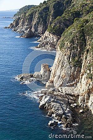 Costa Brava cliff