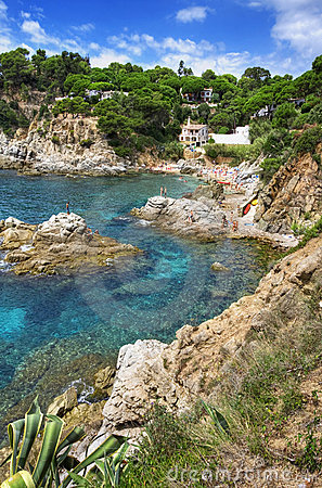Costa Brava landscape near Lloret de Mar, Spain.