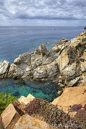 Costa Brava landscape near Tossa de Mar, Spain.
