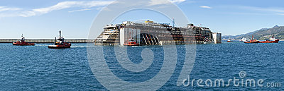 Costa Concordia Editorial Stock Photo
