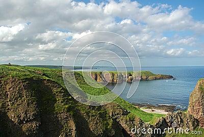 Costa costa de Escocia durante b