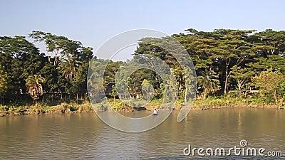 Costa del Canal de Gabkhan almacen de video