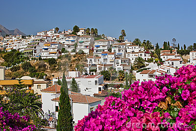 Costa del krajobrazu Nerja zolu spanish
