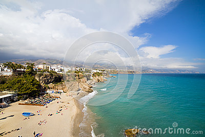 Costa del Sol Beach in Nerja