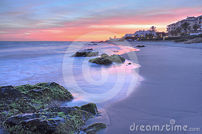 Costa del Sol beautiful sunset