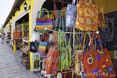 Costa Maya Mexico - Colorful Hand Bags Editorial Photo