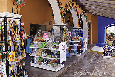 Costa Maya - Shopping for Mexico Souvenirs! Editorial Stock Image