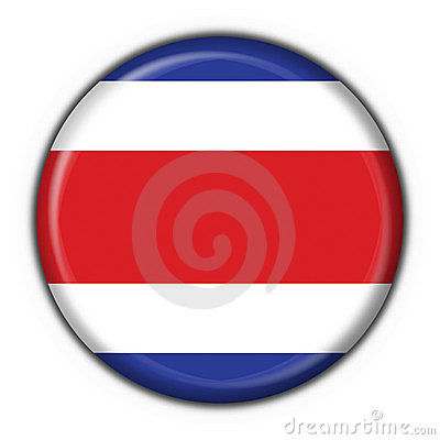 Costa rica button flag round shape