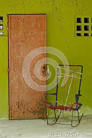 Costa Rica front door with rocking chair