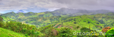 Costa Rica landscape panorama