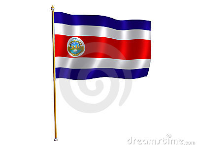 Costa Rica silk flag
