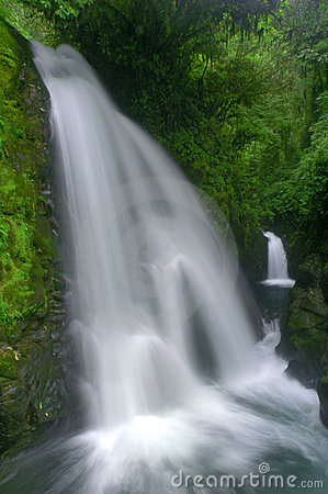 Free Costa Rica Waterfall Stock Image - 4429401