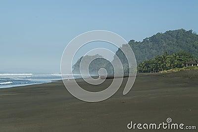 Woman walking on a Costa Rican Beach