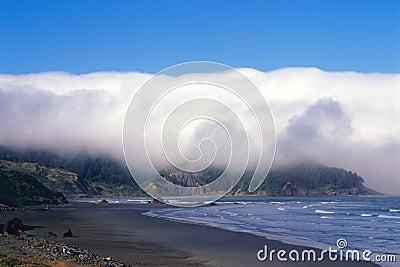 Costa y línea de la playa de Oregon