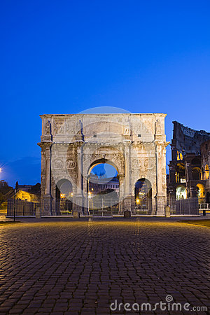 Costantine arch near the Colosseum, Rome, Italy