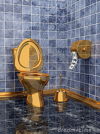 Costly golden toilet