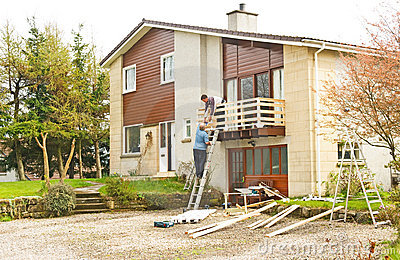 Costruttori sul lavoro: miglioramenti domestici.