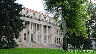 Costruzione amministrativa dell'università di Stato di Colorado in Fort Collins, Colorado stock footage