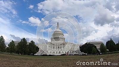 Costruzione capitala degli Stati Uniti, congresso - il Washington DC grandangolare zumma video d archivio