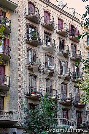 Monumento Storico, Centro Storico Di Barcellona, Spagna Fotografia ...