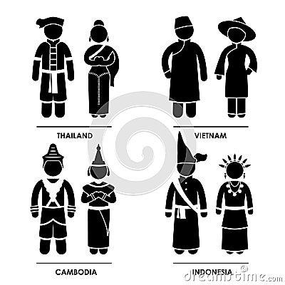 Costume dei vestiti di East Asia