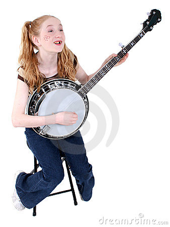 Costume Girl Dressed As Hillbilly