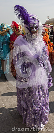 Costume vénitien Image stock éditorial