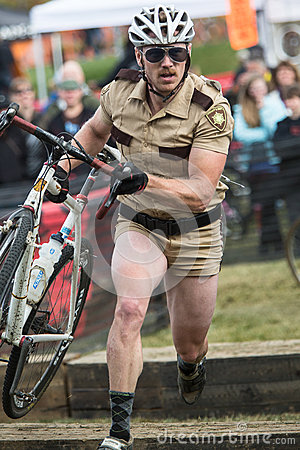 Costumed Bicycle Racer Editorial Photography