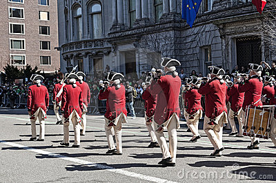 Costumed Marching in NYC St. Pat s Day Parade Editorial Stock Photo