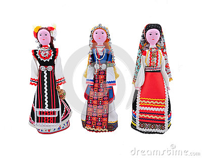 Costumes from different ethnographic