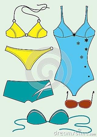 Costumi da bagno per la donna immagine stock immagine 29979741 - Costumi da bagno stock ...