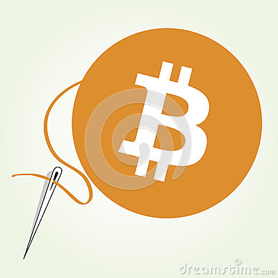 Costura de la moneda de Bitcoin