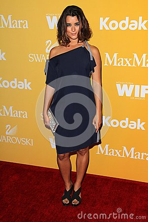 Cote de Pablo at the Women In Film Crystal + Lucy Awards 2012, Beverly Hilton Hotel, Beverly Hills, CA 06-12-12 Editorial Photo