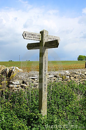Cotswold Sign, The Cotswolds, England
