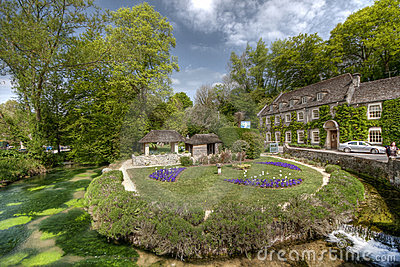 Cotswold village of Bibury and Arlington Row the p