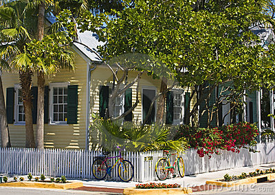 Cottage with bicycles