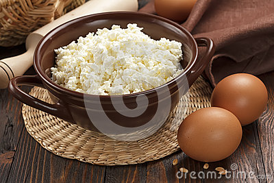 Cottage cheese and eggs