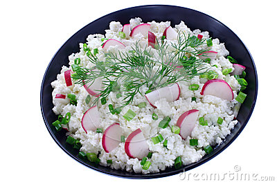 Cottage cheese with radish