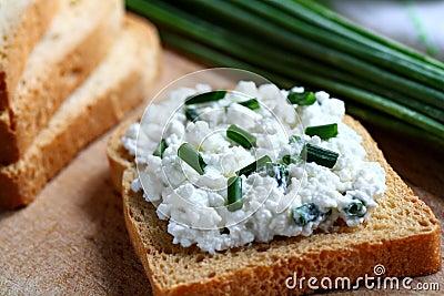 Cottage cheess sandwich