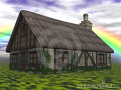 Cottage in countryside