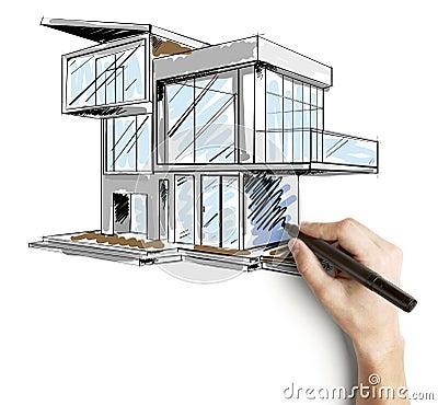 emejing architecture moderne maison dessin pictures ridgewayng - Architecture Moderne Maison Dessin
