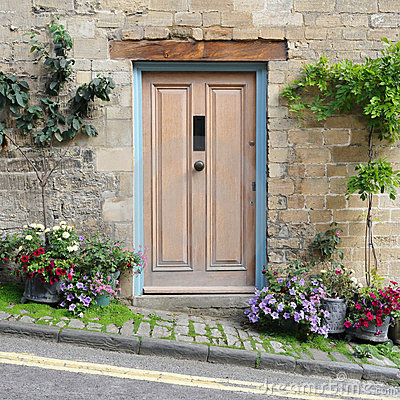 Free Cottage Front Door Royalty Free Stock Photo - 18781355