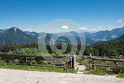 Cottage garden in the bavarian alps