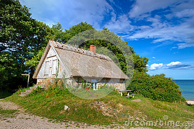 Cottage house at Baltic Sea of Sweden